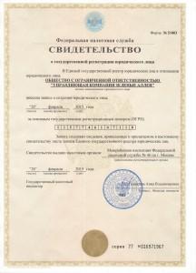 Свидетельств о гос. регистрации